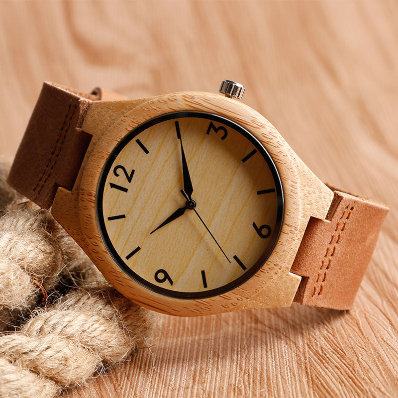 Bamboo Wrist Watch - PicaPicaBeauty