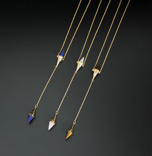 Cone shaped Long Necklace - PicaPicaBeauty