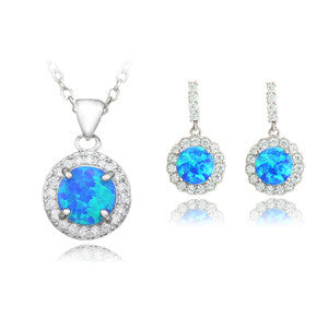 Fire Opal Jewelry Sets Plus Free Gift Box - PicaPicaBeauty