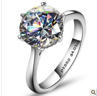 FOREVER Platinum ring with 4ct diamond - PicaPicaBeauty