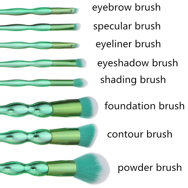 Go Green 8pcs Face Brushes Kit - PicaPicaBeauty