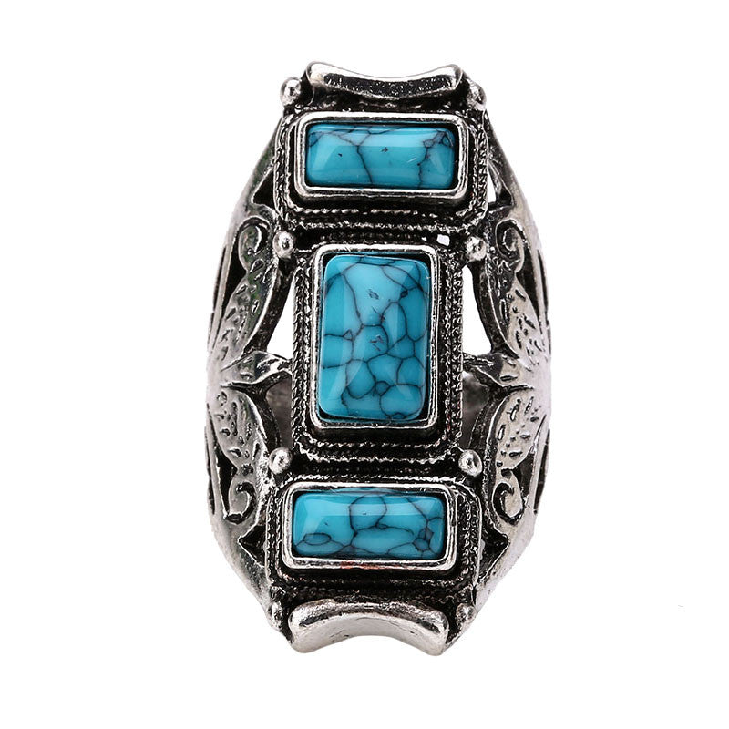 Vintage Luxury Unique Turquoise Ring - PicaPicaBeauty