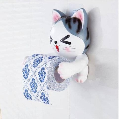 3D Cat Toilet Paper Holder