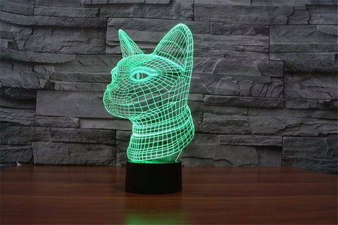3D Siamese Cat Night Light (7 color modes)