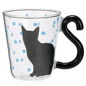 3D Cat Glass Mug