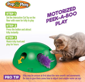 Dome Pop N Play Interactive Cat Toy - Wonderful Cats