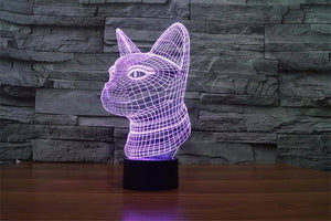 3D Siamese Cat Night Light (7 color modes) - Wonderful Cats