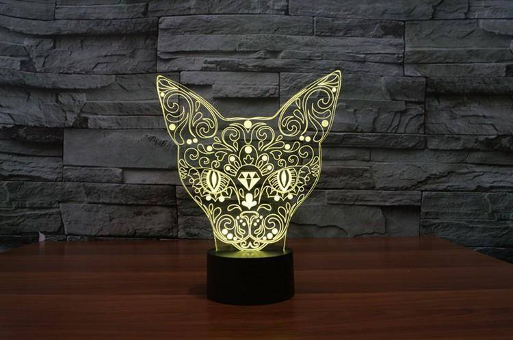 3D Mysterious Cat Night Light (7 color modes) - Wonderful Cats