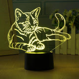 3D Cat Night Light (7 color modes)