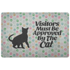 Visitors Must Be Approved By The Cat - Doormat