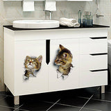 3D Cat Wall/Toilet Sticker v2