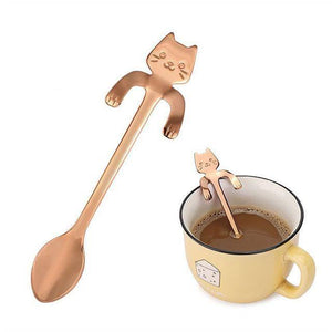 Stainless Steel Cat Teaspoons - Wonderful Cats