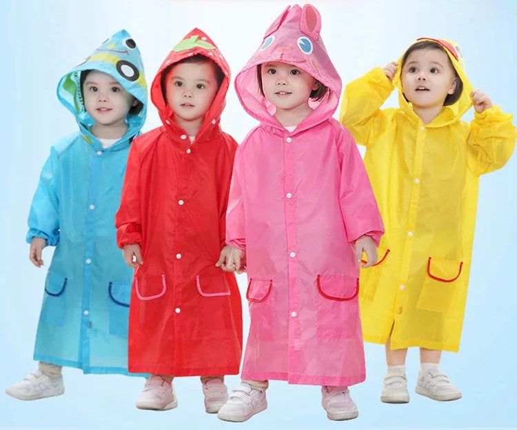 kids fun rain coat