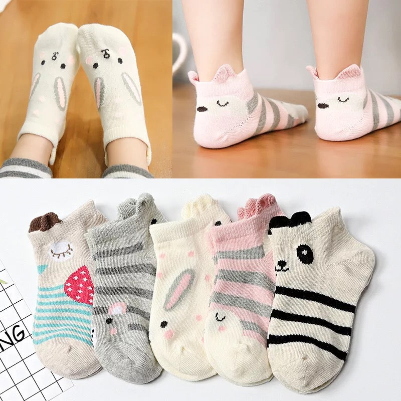premium cotton baby socks bundle [5 pair/pack]