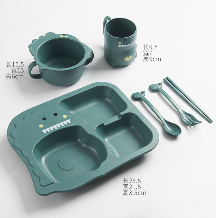 reusable dinosaur dinnerware [complete set]