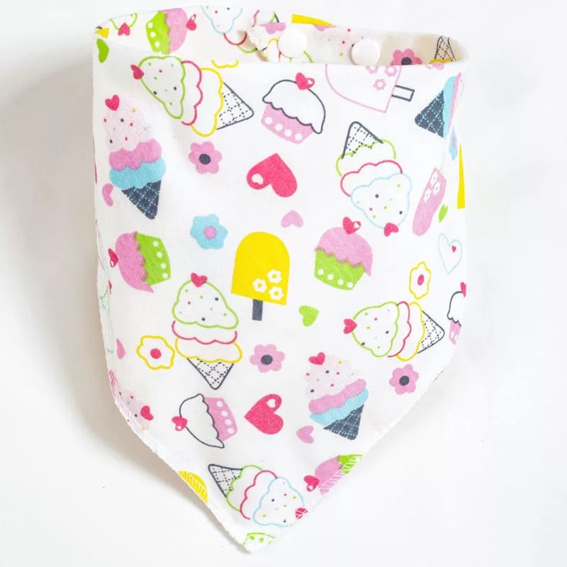 reversible baby bib [collection A]