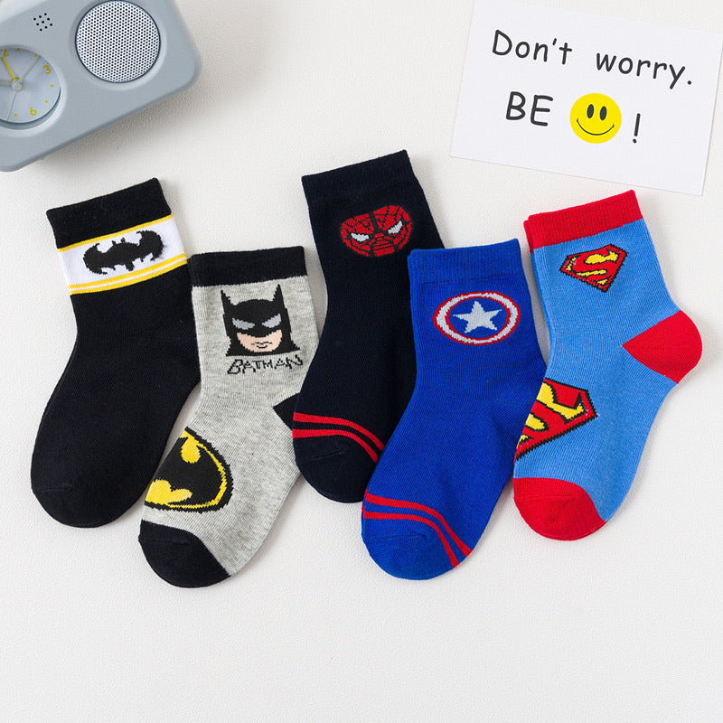 kids superhero sock [5 pairs/set]