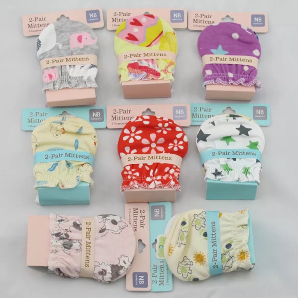 carter's newborn mitten [2 pair/pack]