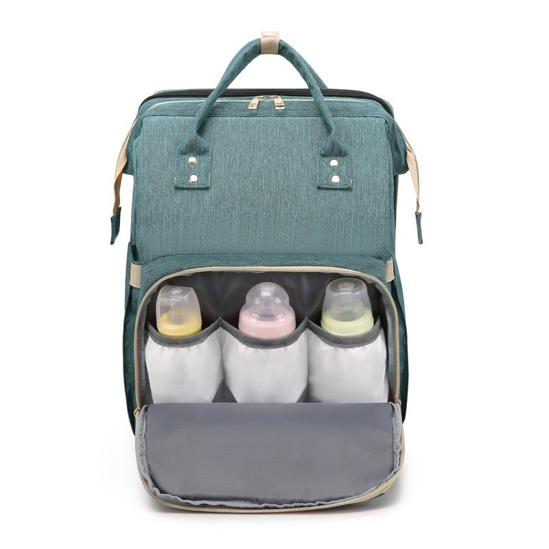 multi-functional carry cot and diaper backpack