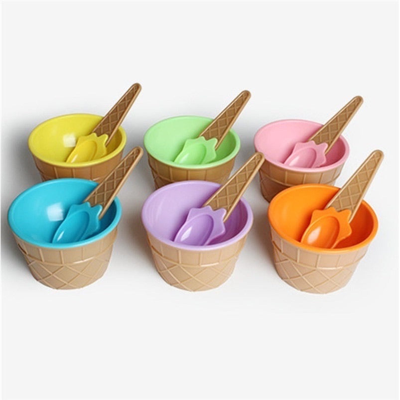 bowl & spoon set [ice cream design]