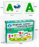 english letter learning card kit