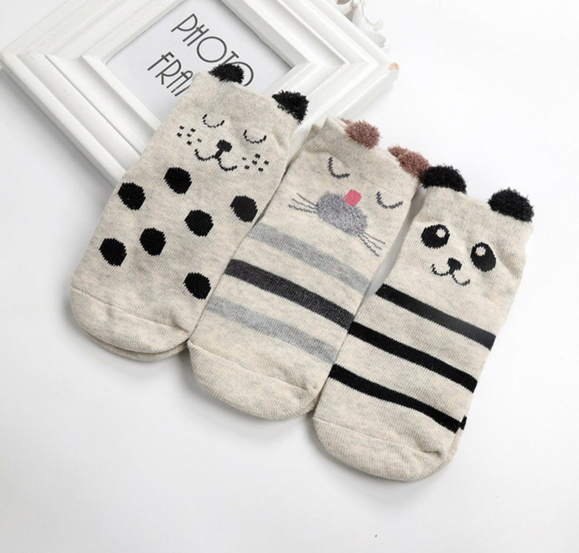animal anti-slip socks bundle [3 pair/pack]