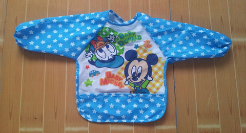 long sleeve water-resistant feeding/painting bib [disney edition]