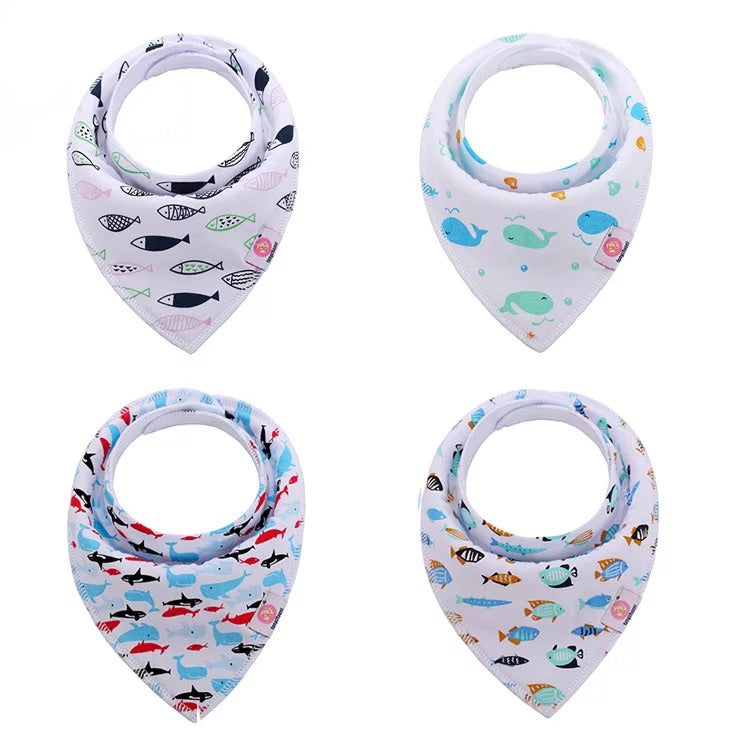nordic baby bib bundle [4 pcs/pack]