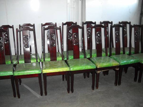 Shipping charge only- 2 Asian rosewood chairs
