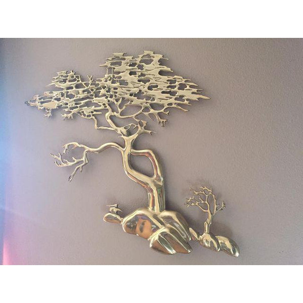 Bijan Brass Bonsai Tree Wall Sculpture- SOLD  SOLD  SOLD
