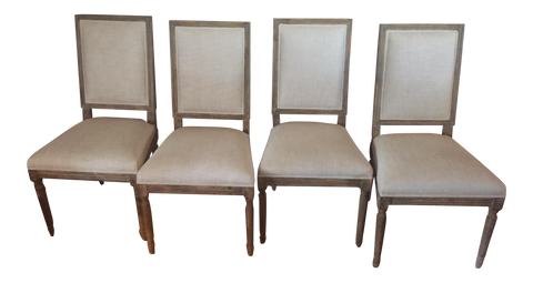 Shipping Charge ONLY- Restoration Hardware Dining Chairs ( set of 4)