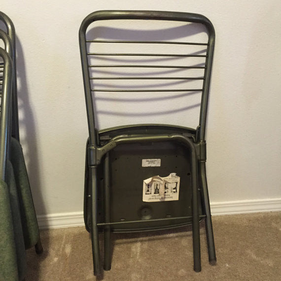 ... Set Of 4 Vintage Gate Folding Chair / 60u0027s Folding Chair By Cosco / Mid  Century ...