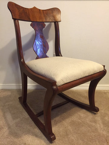 Early twentieth century wood rocking chair