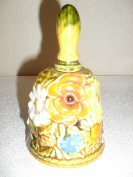 INARCO 1960's orange floral dinner bell