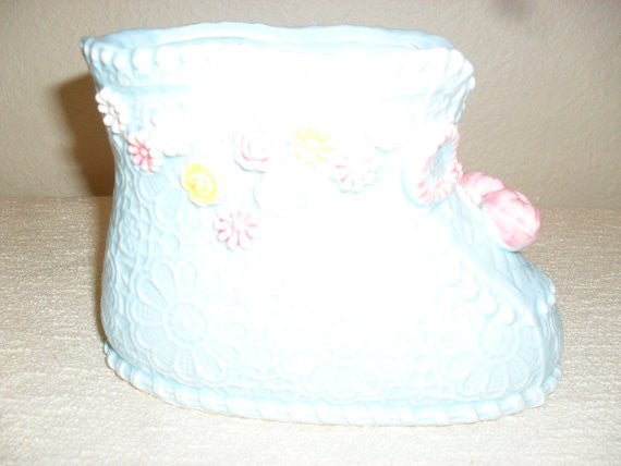 Vintage Napcoware Baby Bootie Planter C-8574 Made in Japan