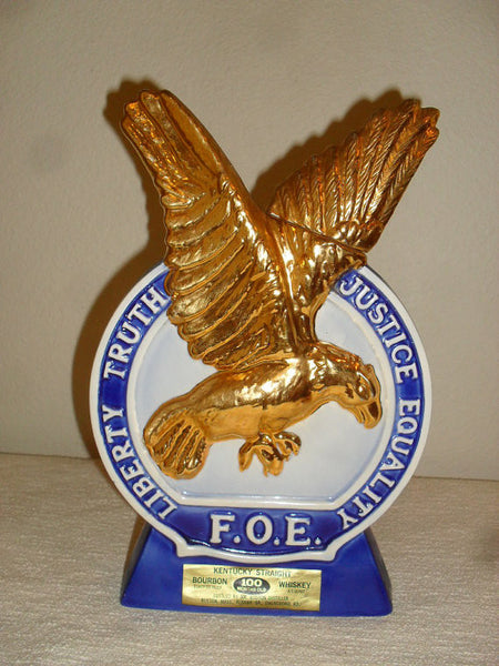 Old Mr. Boston Fraternal Order of Eagles 1971 Decanter gold plate barware-SOLD - SOLD - SOLD
