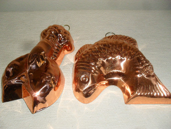 Vintage SOLID COPPER MOLDS Collection, Tin Lined Copper Molds- SOLD - SOLD - SOLD