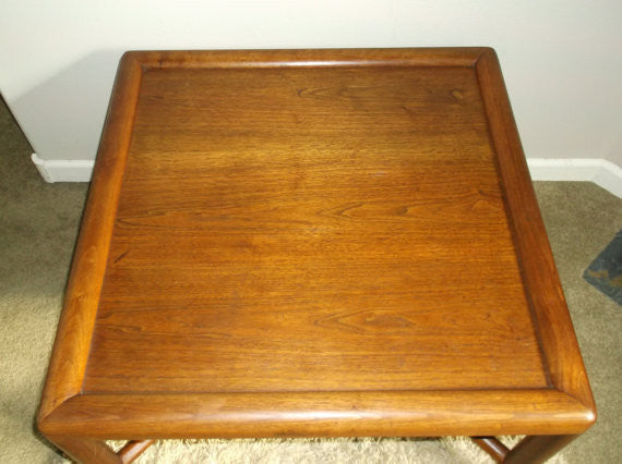 Mid Century Danish Modern Teak Coffee Table with X base