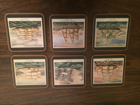 Set of Six Clipper Ships Sailing Motif Coasters made by Pimpernel