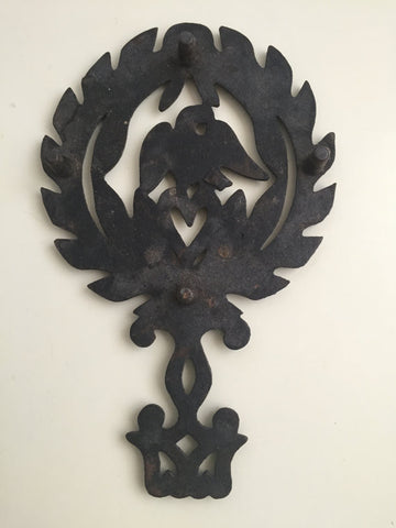 Vintage Cast Iron Trivet- American Eagle and Heart - Pot Rest