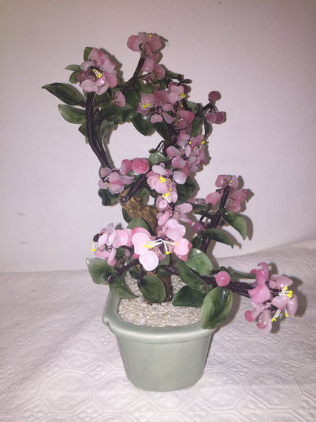 Vintage Mid Century Chinese Bonsai Flowering tree 1960's
