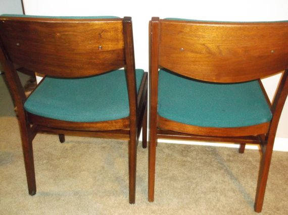Set of 5 Gunlocke Walnut Side / Dining or Office chairs