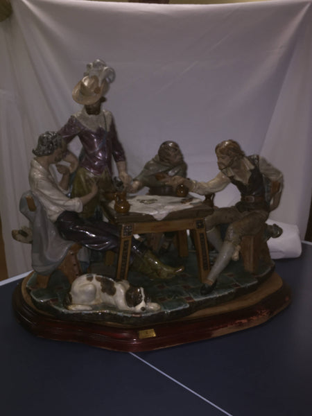 "ON SALE - Lladro #1327 ""Jugadores En El Meson"" Playing Cards"