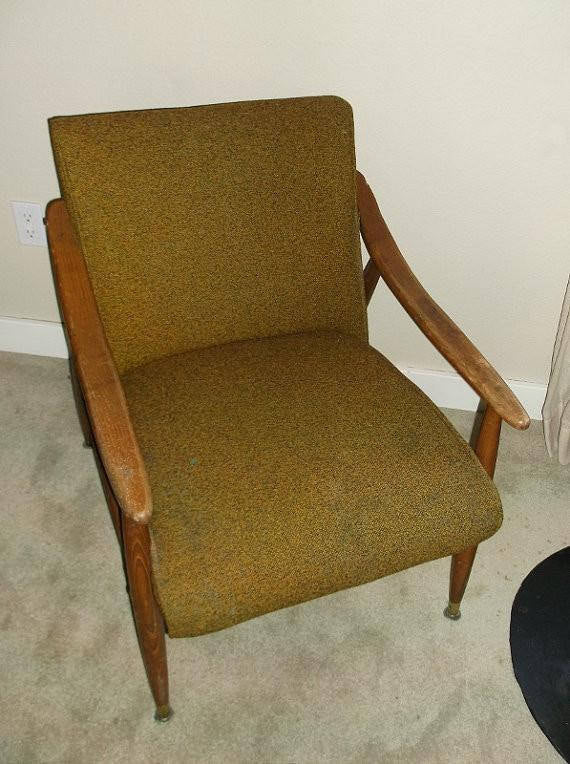 Vintage Danish modern upholstered lounge chair