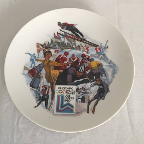 1980 Viletta Official Lake Placid XIII Winter Olympic Games Collector's Plate MINT