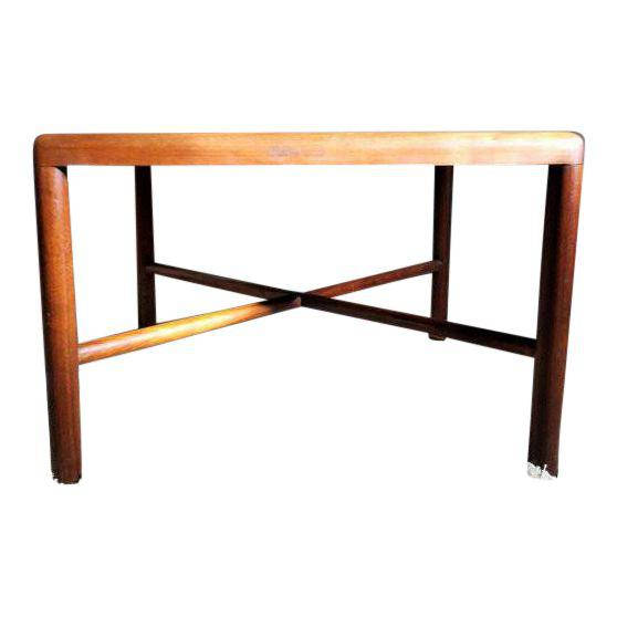 Danish Modern Teak Coffee Table with X base