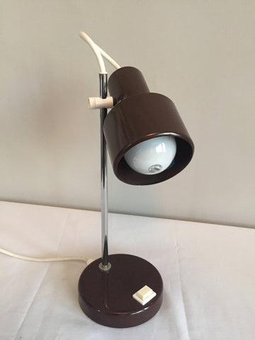 Vintage Modern Brown Metal Studio Desk Lamp