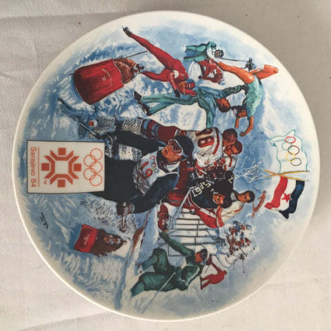 1984 Viletta Official Sarajevo XVII Winter Olympic Games Collector's Plate