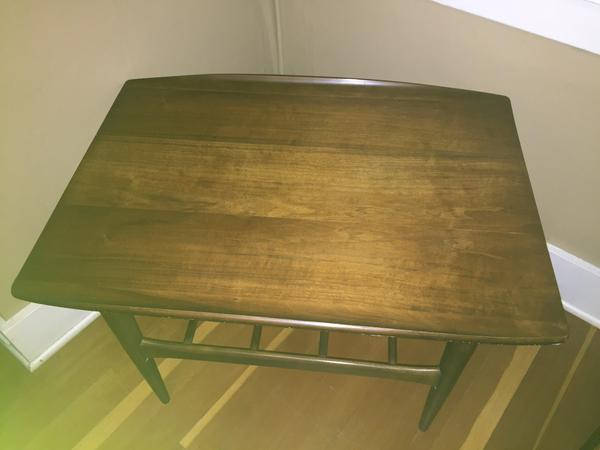 Mid Century Modern Walnut End Table by Bassett (2 available)