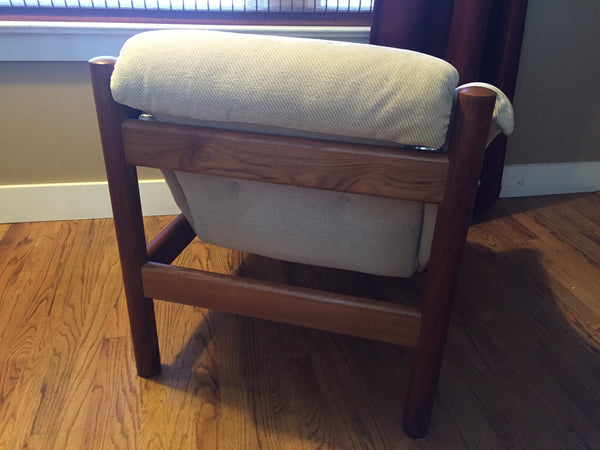 Danish Modern Teak Lounge Chair By Domino Mobler $1,400